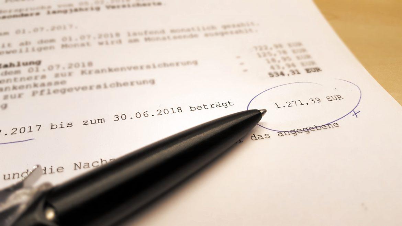 Rentenbescheid mit Nachzahlung von Flexirente